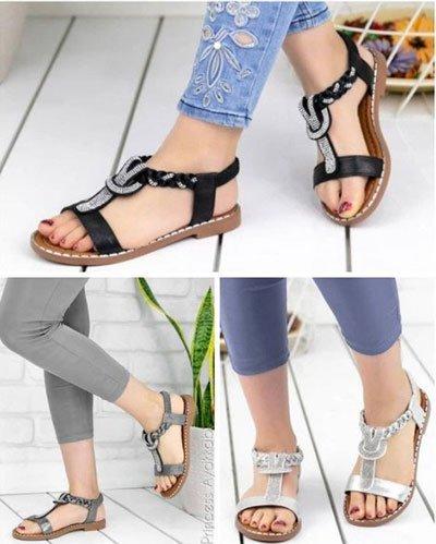 düz taban sandalet modelle