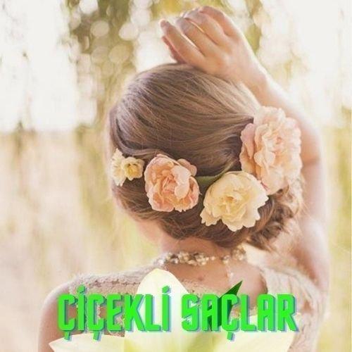 çiçekli saç modelleri