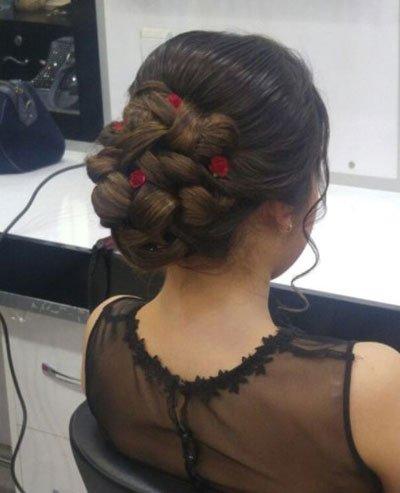 çiçekli saç stilleri - 30 farklı tarz örneği 1